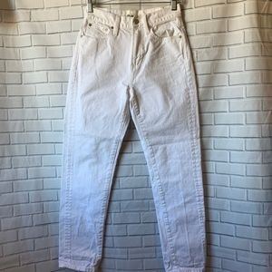Madewell Perfect Slimmer White High Waist Jeans 24
